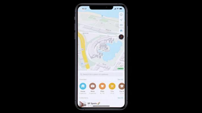 The new Apple Maps app in iOS 13 provides a lot more detail.