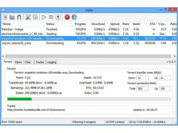 عميل Halite BitTorrent