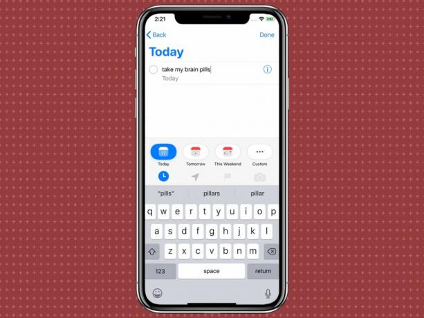 ios 13 reminders quick toolbar