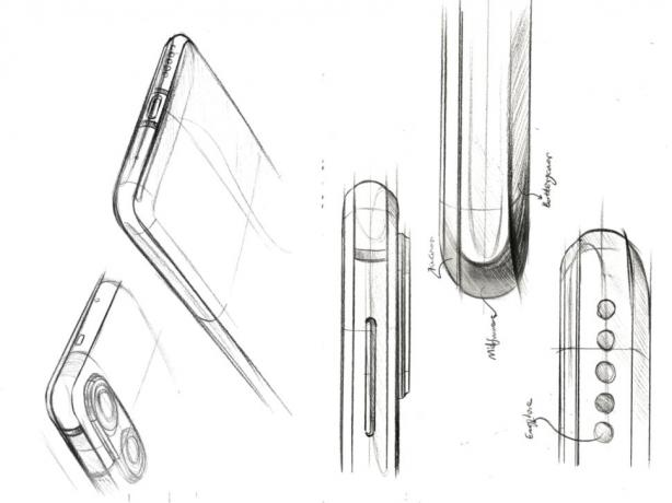 Sketches show Honor's plans for the Honor 20 Series. (Credit: Honor)