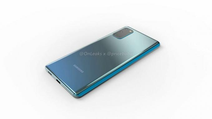 Renders de Samsung Galaxy S20 Fan Edition
