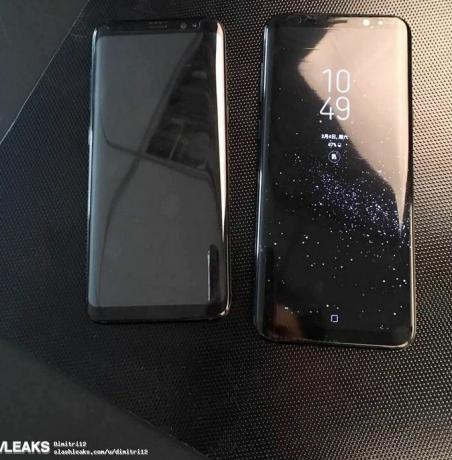 The Galaxy S8 Plus will likely be 6.2 inches, compared to 5.8 inches for the Galaxy S8. Credit: Slash Leaks