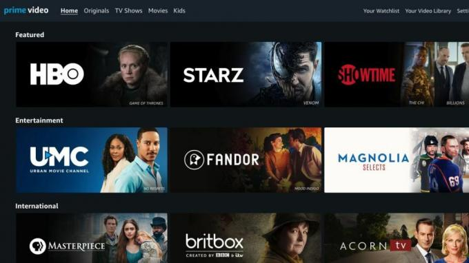 Amazon Kanalları; HBO, Starz ve Showtime'ı içerir